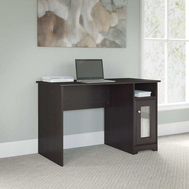 Excellent Espresso Oak Single Pedestal Desk 48 Inch Cabot Home Interior And Landscaping Elinuenasavecom