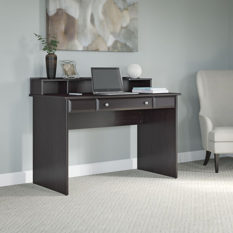 Outstanding Espresso Oak 48 Inch Writing Desk Cabot Beutiful Home Inspiration Semekurdistantinfo