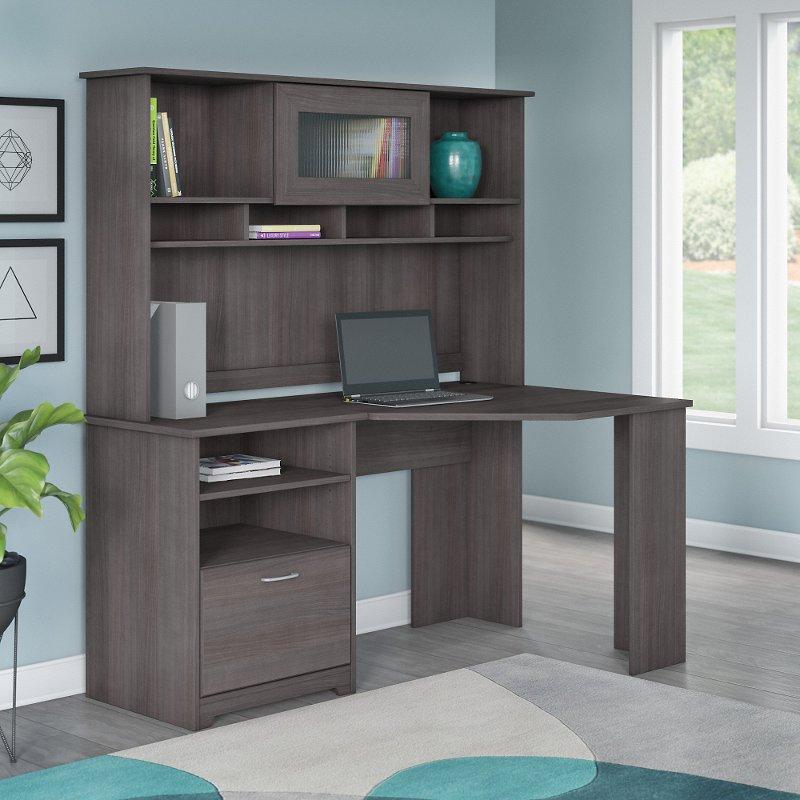 Gray Corner Desk Home Ideas