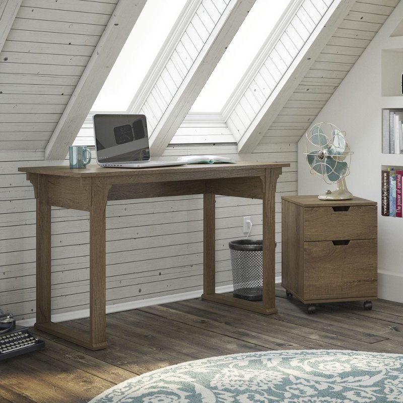 Mission Creek Rustic Brown 48 Inch Writing Desk Mobile