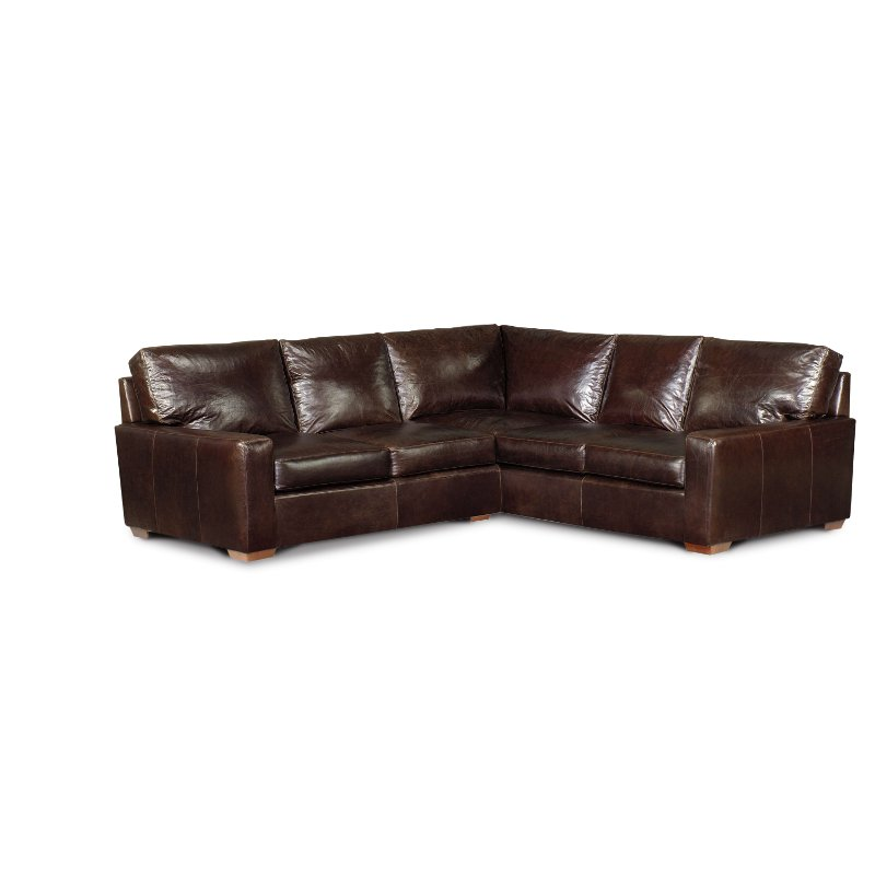 Contemporary Brown Leather 3 Piece Sectional Sofa