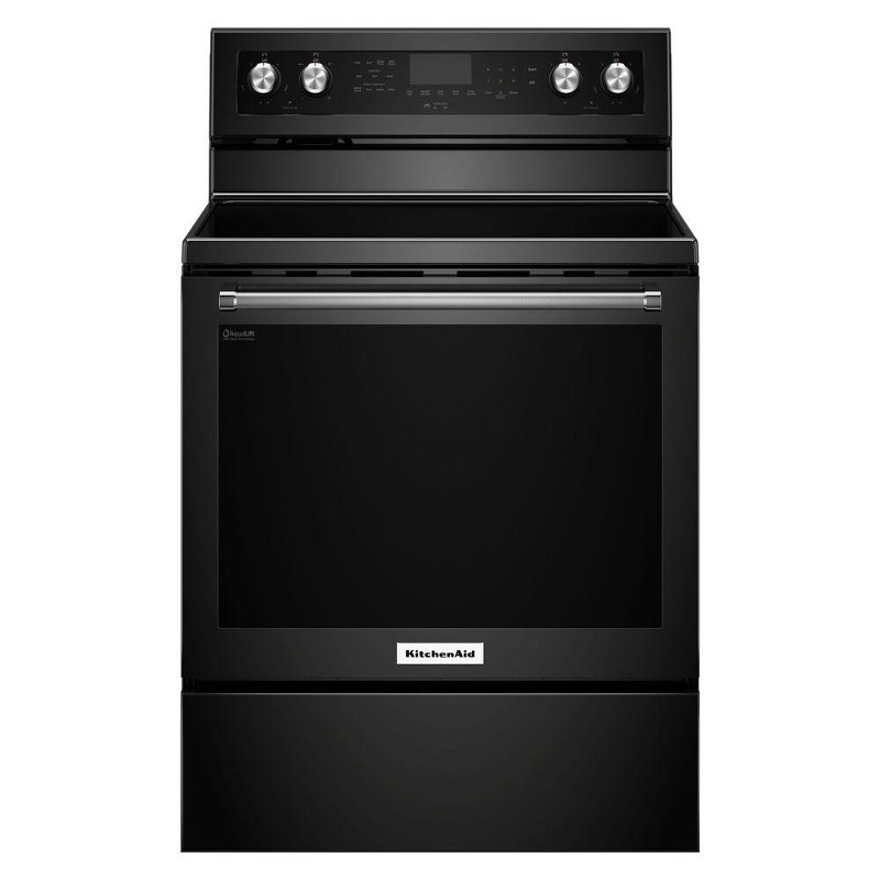 Kitchenaid Electric Range 6 4 Cu Ft Black Stainless Rc Willey