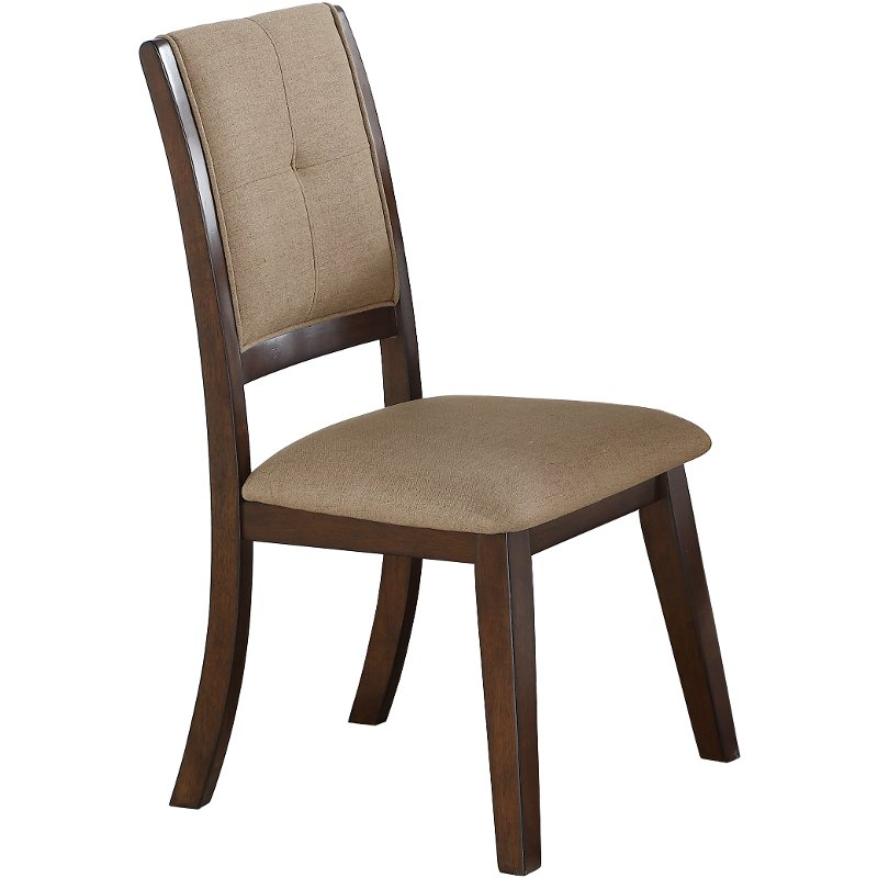 Rc Willey Sacramento: Espresso Upholstered Dining Chair - Barney