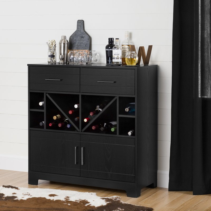 Bar Cabinet With Bottle Storage And, Liquor Bar Furniture