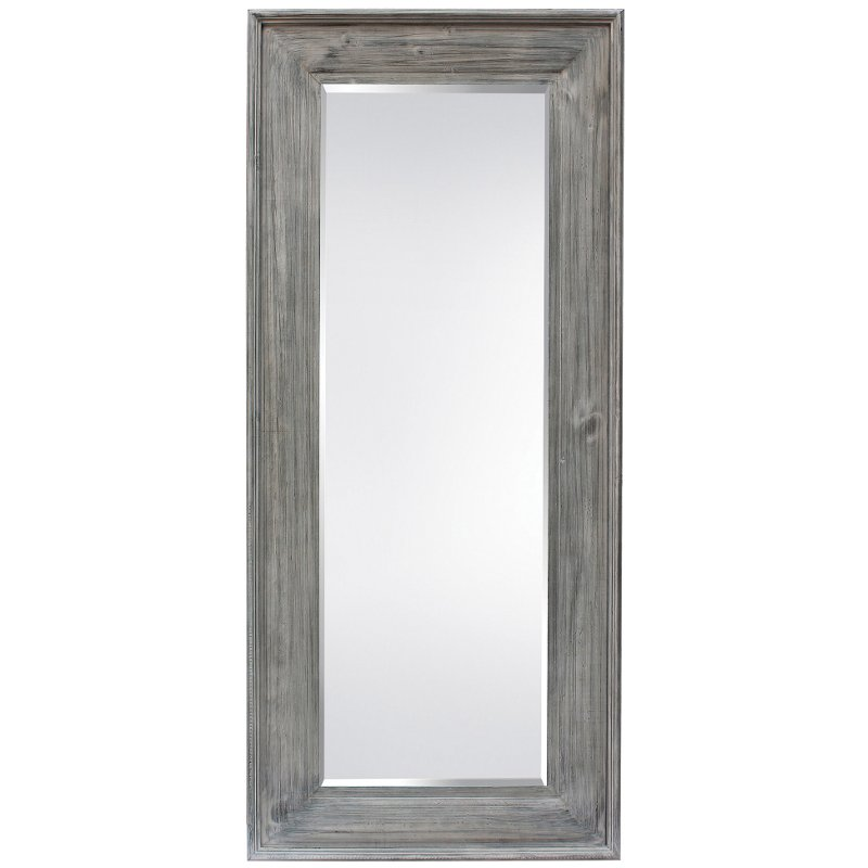 Light Gray Wood Framed Mirror   RC Willey Furniture Store