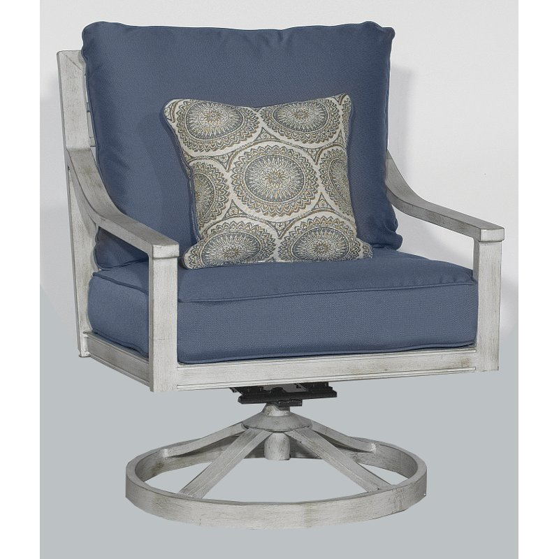 Blue Outdoor Patio Swivel Rocker Chair  Acadia | RC Willey Furniture Store