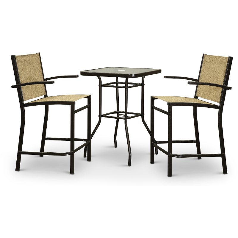 3 Piece Outdoor Dining Bistro Set South Beach Rc Willey