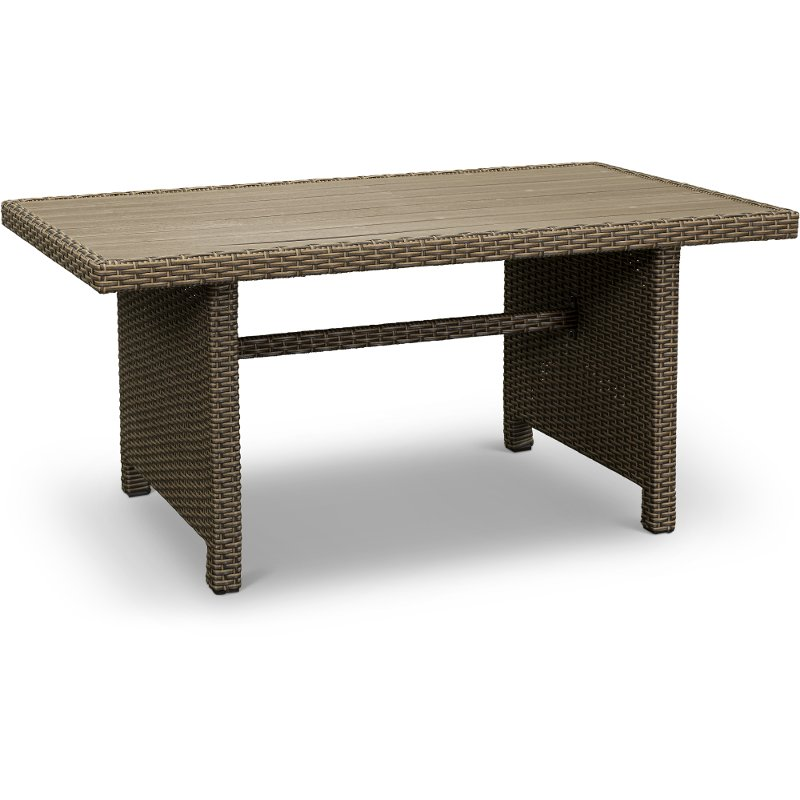 Wicker Patio Table Arcadia Rc Willey Furniture Store