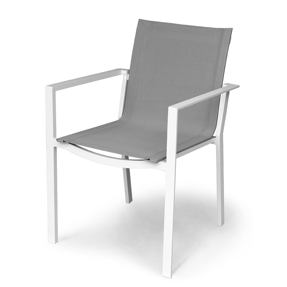 Outdoor Patio Sling Dining Chair Gray Kedo Rc Willey