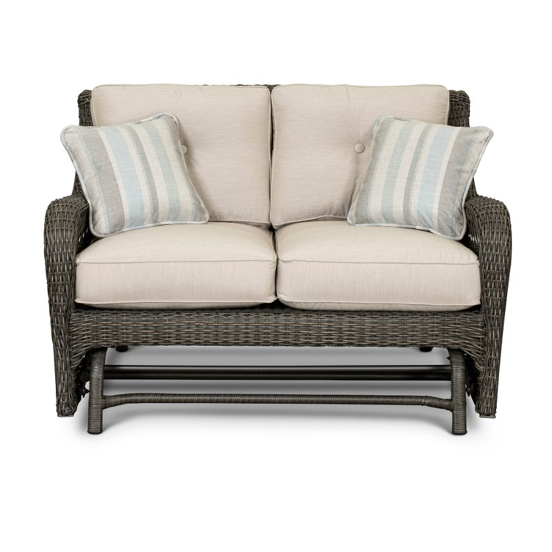 Outdoor Patio Love Seat Glider   Riviera