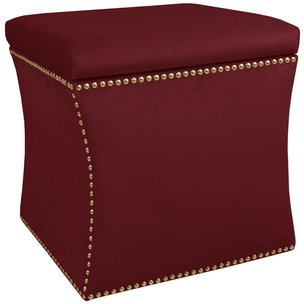 Incredible Velvet Berry Nail Button Storage Ottoman Rc Willey Camellatalisay Diy Chair Ideas Camellatalisaycom