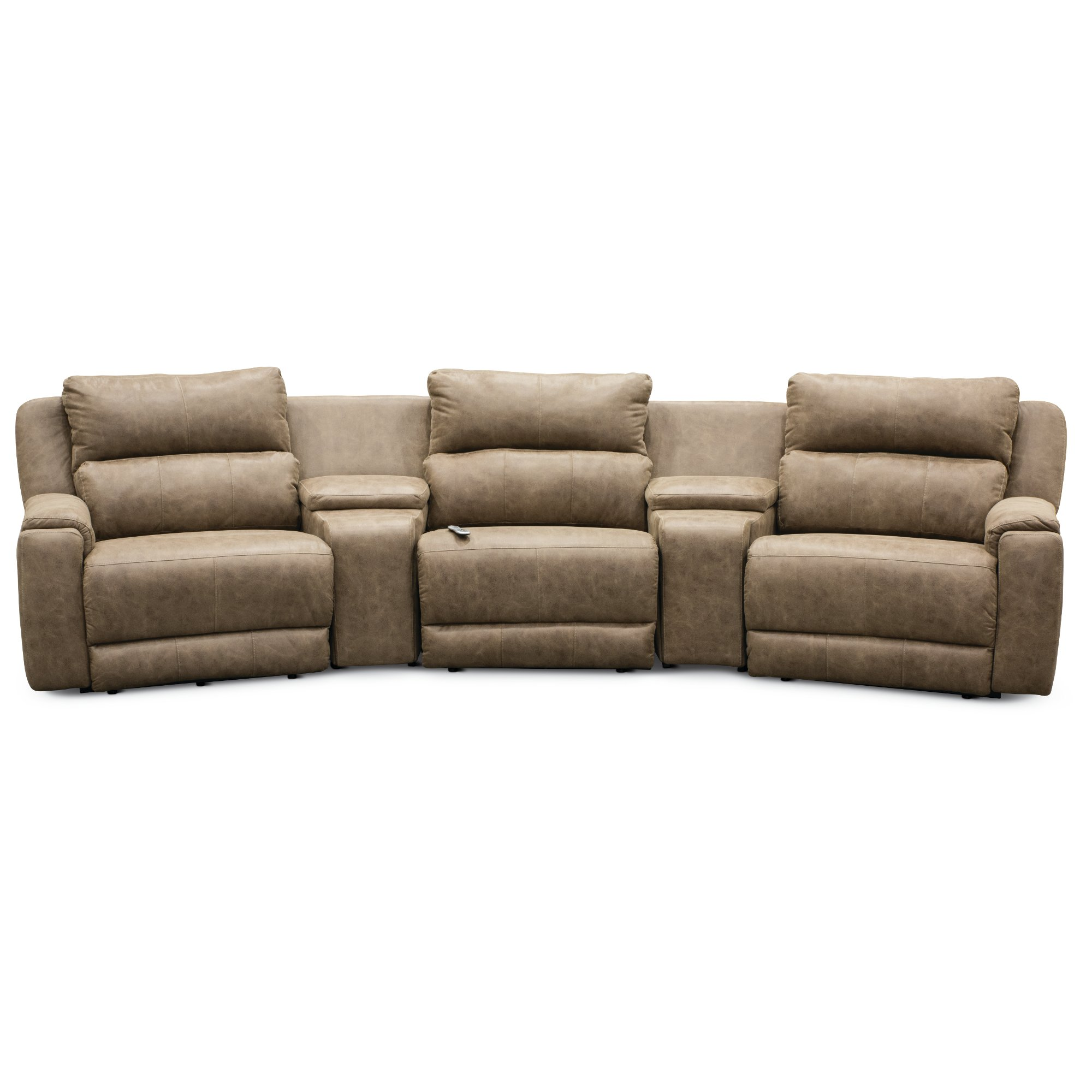 Magnificent Vintage Taupe 5 Piece Power Reclining Sectional Sofa Dazzle Evergreenethics Interior Chair Design Evergreenethicsorg