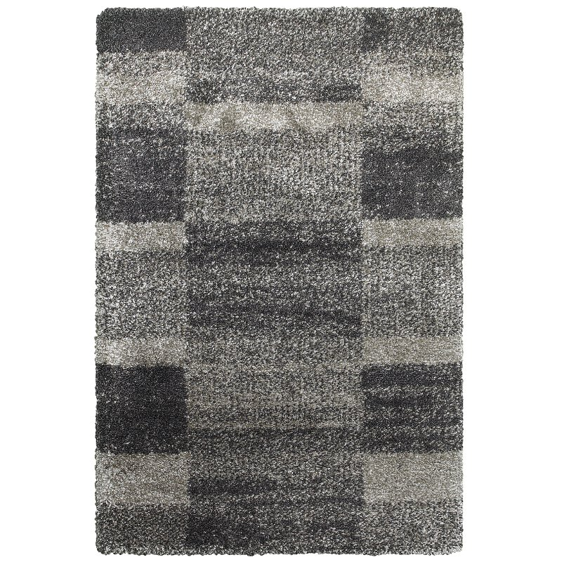 8 X 11 Large Gray And Charcoal Area Rug