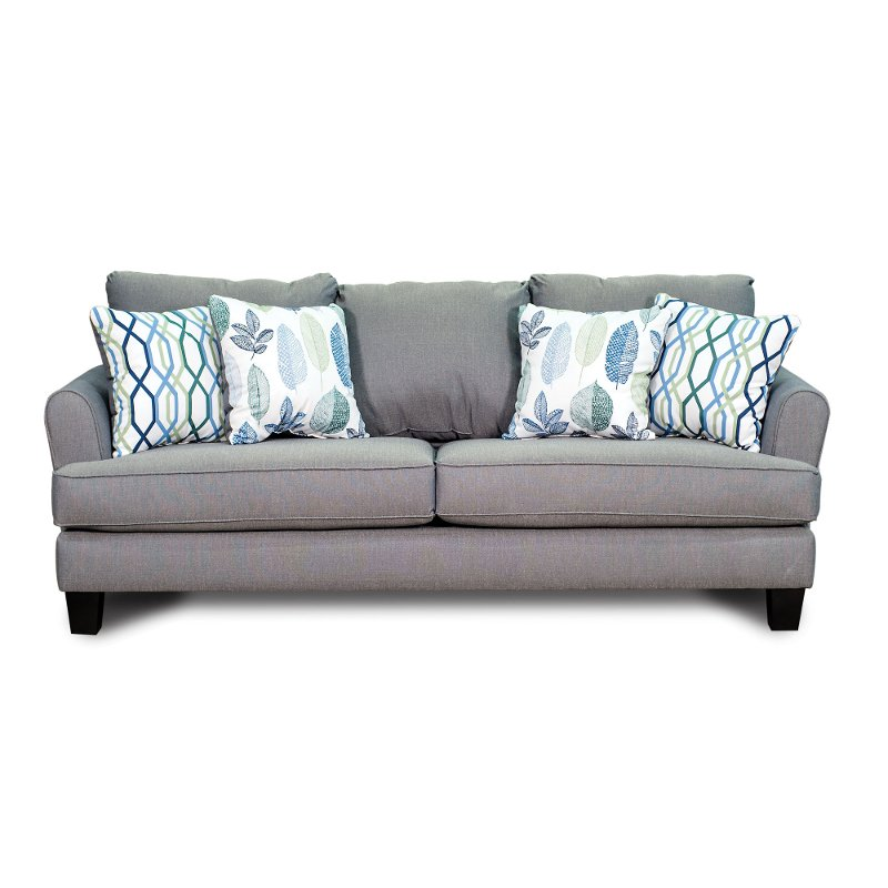 Casual Contemporary Gray-Blue Sofa - Bryn