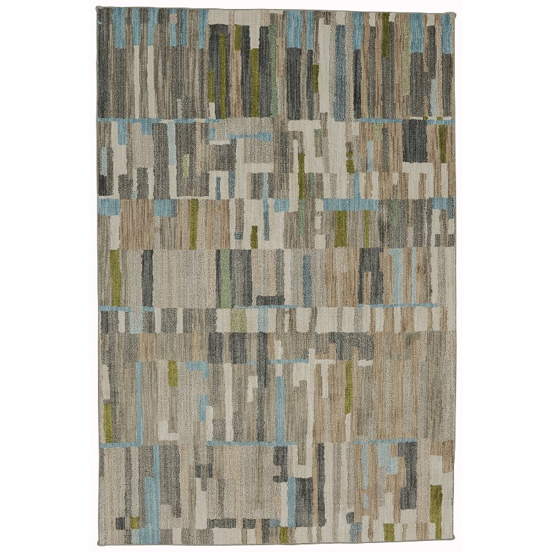 8 X 11 Large Bacchus Brown Gray Green And Blue Rug Muse