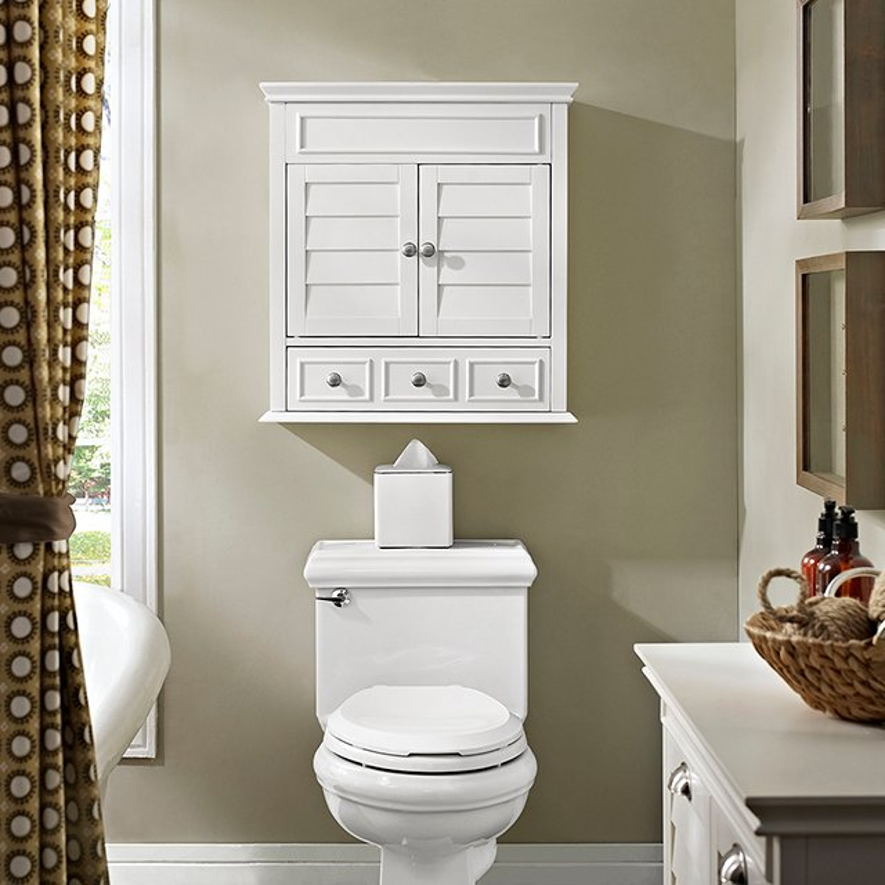 White Bathroom Wall Cabinet Lydia, Bathroom Wall Cabinets