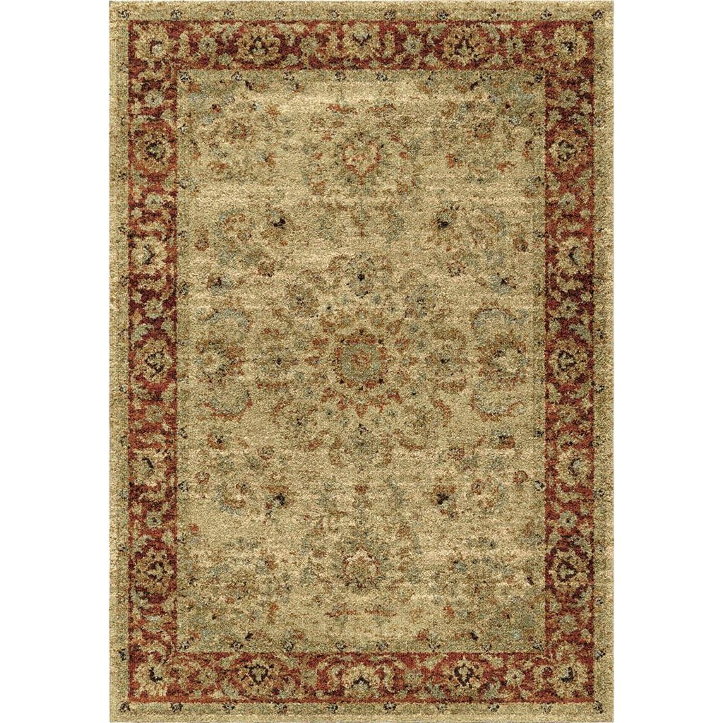 8 X 11 Large Ivory And Red Area Rug American Heritage Rc Willey