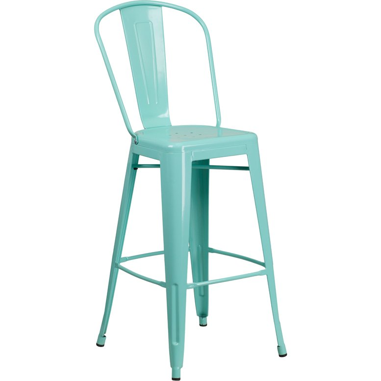 Mint Green Metal 30 Inch Bistro Bar Stool Rc Willey