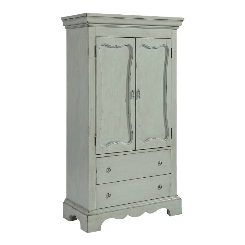 Magnolia Home Furniture French Blue Armoire Cameo Rc
