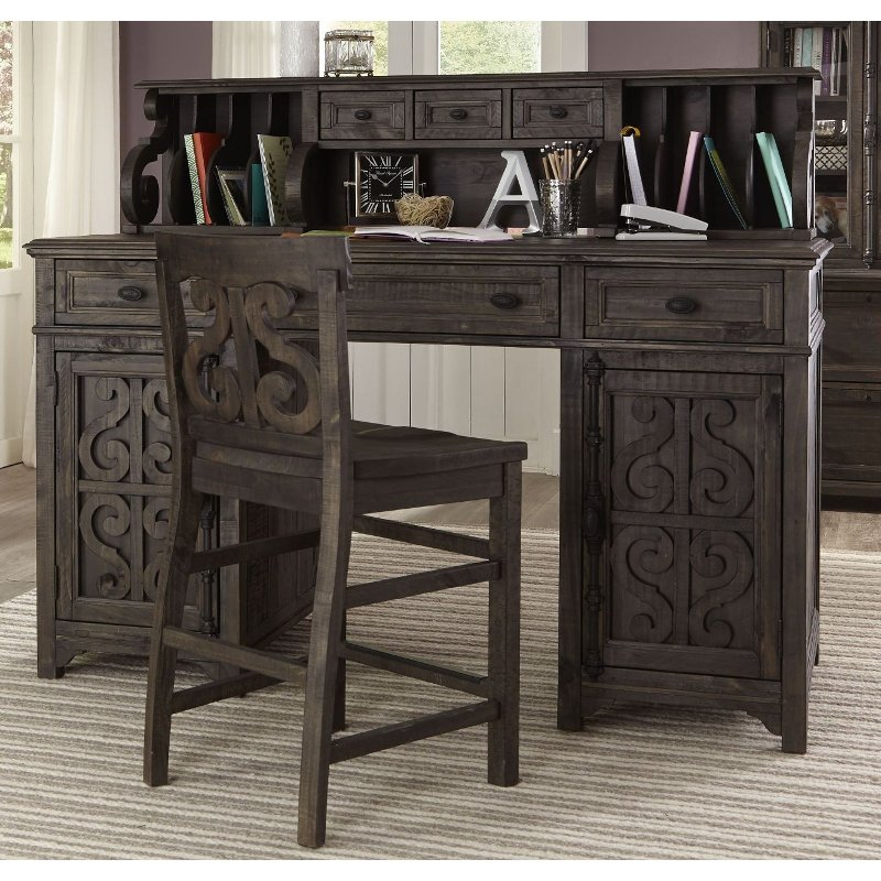 Deep Weathered Counter Height Desk Chair   Bellamy | RC Willey Furniture  Store