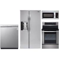 lg stainless steel 4 piece electric kitchen appliance