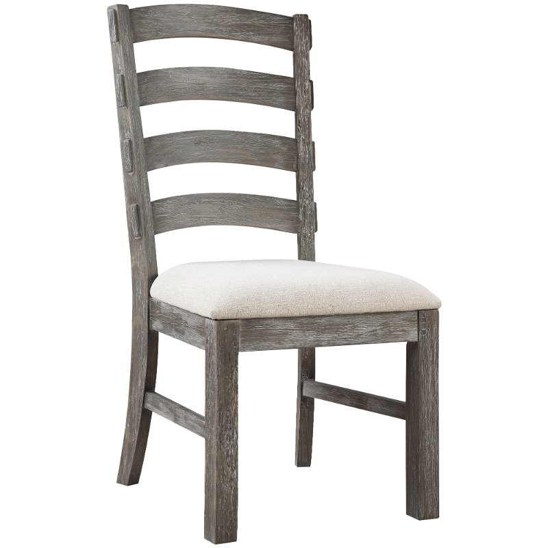 Rc Willey Sacramento: Charcoal Upholstered Dining Chair