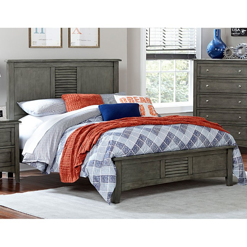 Willey Furniture: Gray Casual Classic Full Bed - Garcia