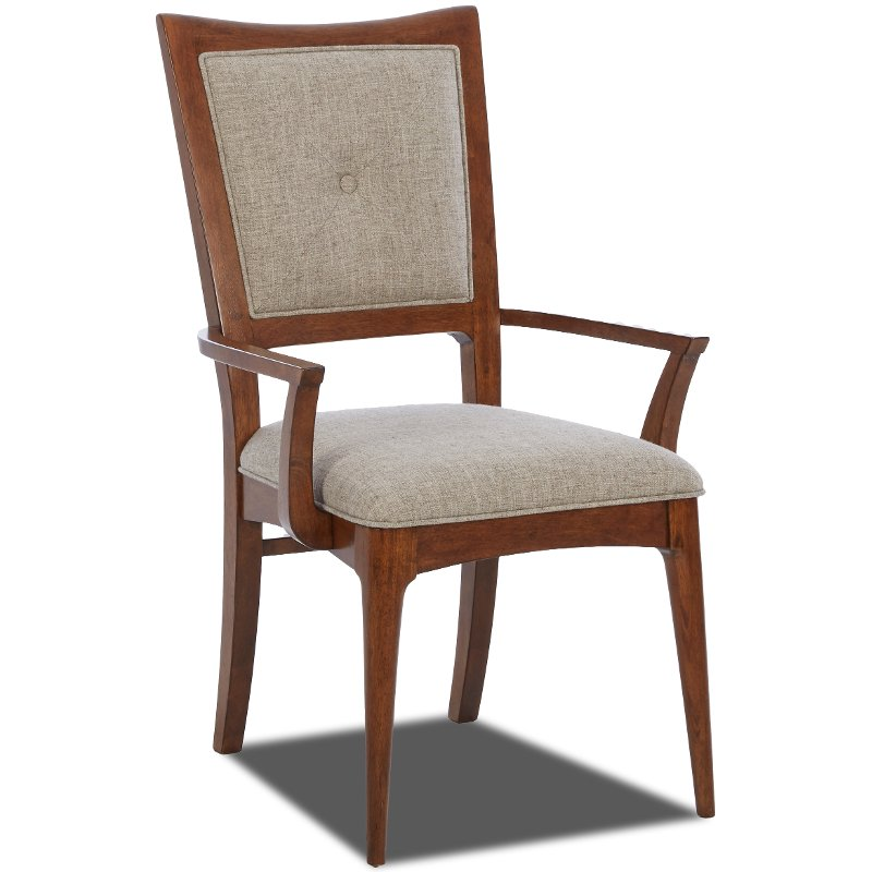 Room Store Clearance: Linen Upholstered Arm Chair - Simply Urban