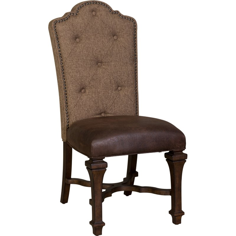 Rc Willey Boise Idaho: Cordovan Brown Tufted Dining Room Chair - Lucca