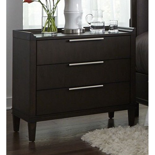 Charcoal Contemporary Nightstand Tivoli Rc Willey