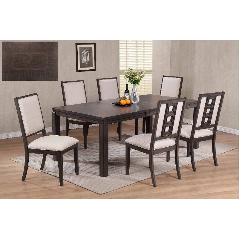 Gray Contemporary 5 Piece Dining Set Hartford Rc Willey