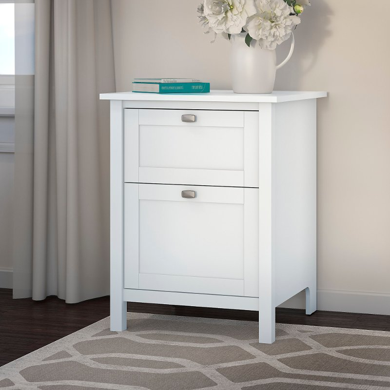 Pure White 2 Drawer File Cabinet   Broadview