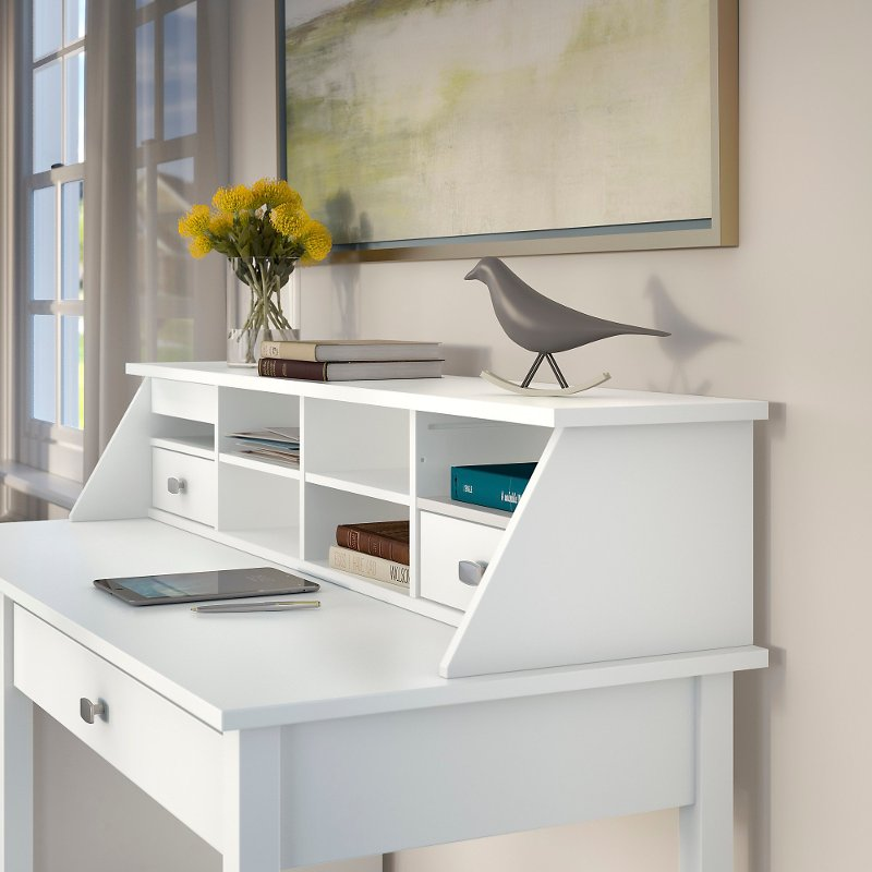 Pure White Desktop Organizer Broadview