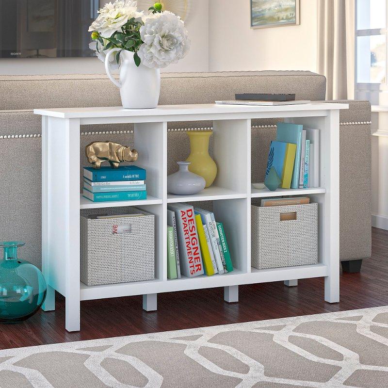 san francisco 01ad3 df45d Pure White 6 Cube Storage Bookcase - Broadview