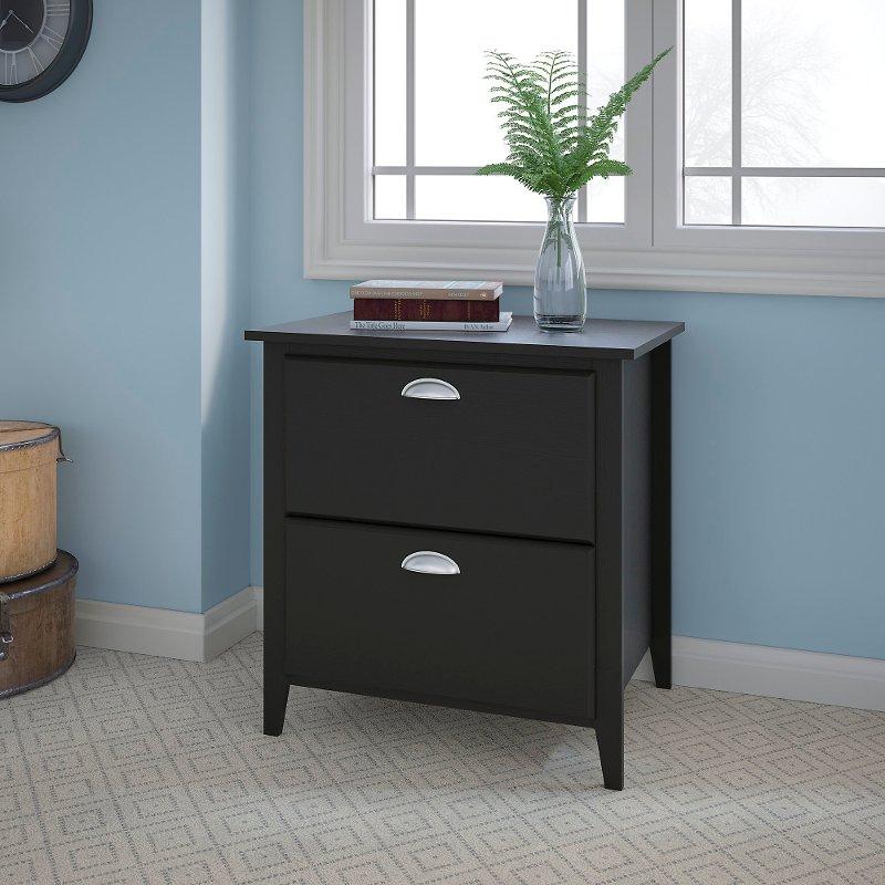 Attirant Kathy Ireland Black Oak 2 Drawer Lateral File Cabinet   Connecticut