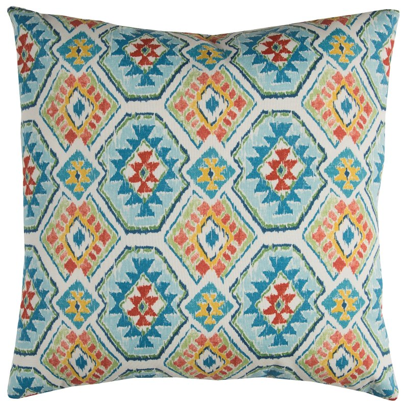 Blue And Orange Aztec Indoor Outdoor Throw Pillow Rc Willey
