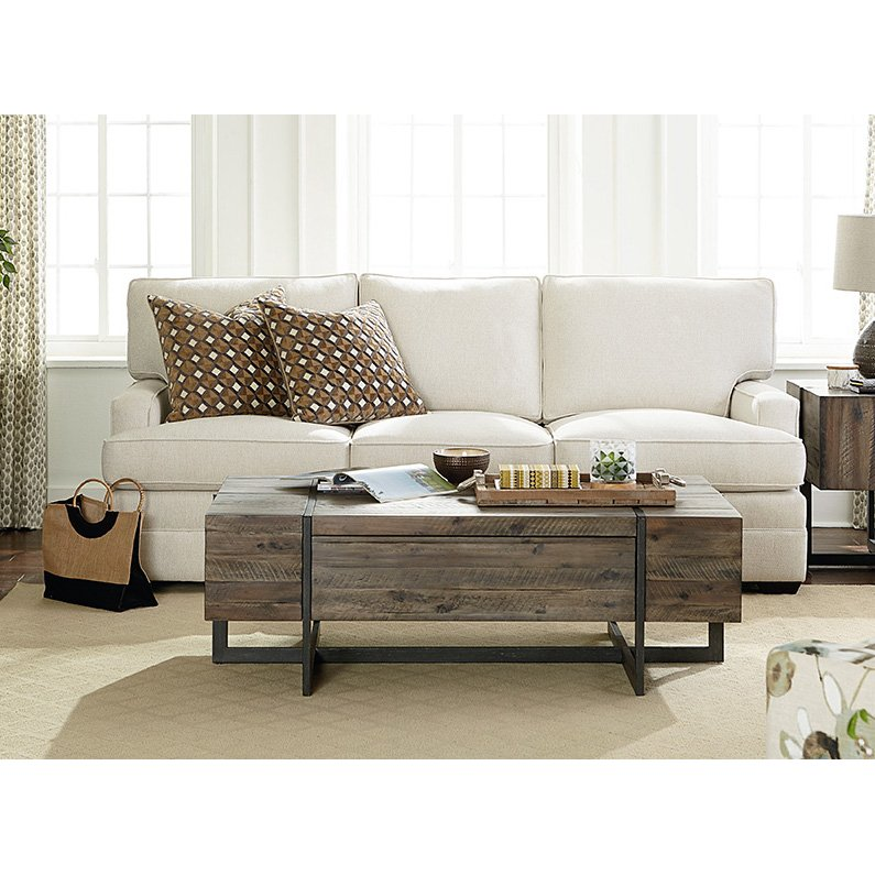 Rustic Brown Wood Coffee Table Modern Timber