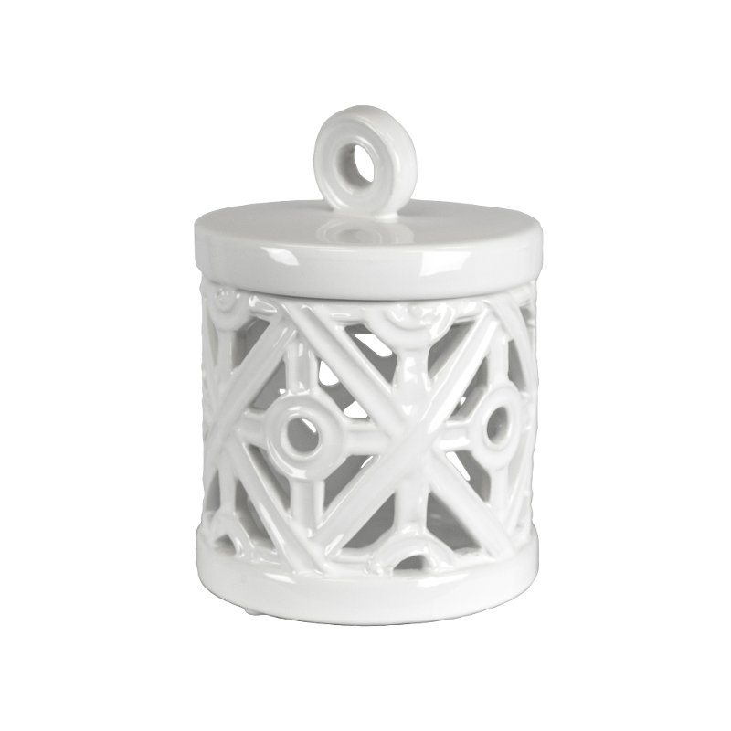 7 Inch White Tea Light Holder