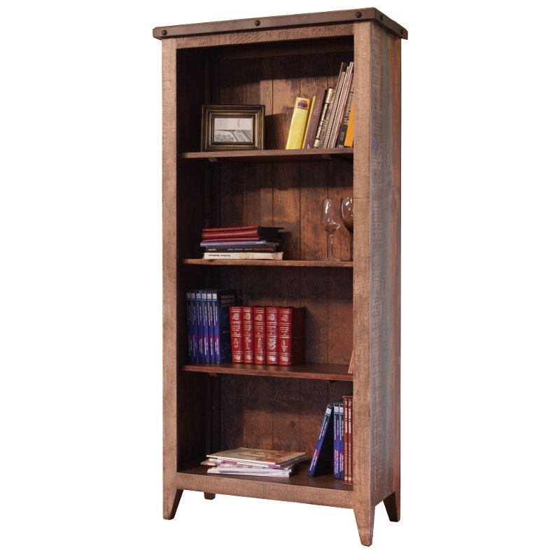 rustic multicolor pine bookcase antique rc willey furniture store rh rcwilley com antique pine book shelves