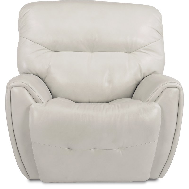 Marvelous Icelandic White Leather Match Power Glider Recliner Blaise Alphanode Cool Chair Designs And Ideas Alphanodeonline