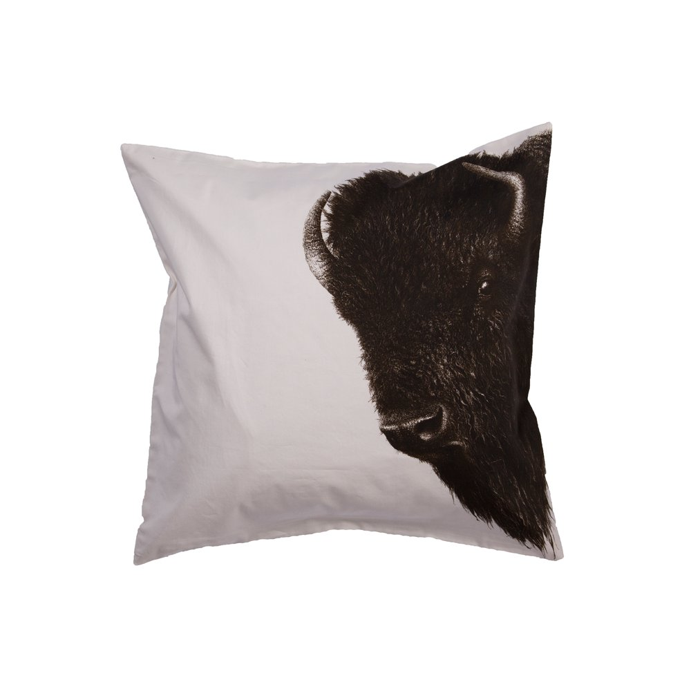 Black and White Bison Throw Pillow on trump home collection furniture, national geographic collectors corner, national geographic photographic rugs, disney home collection furniture, national geographic sphinx rugs, monte carlo collection furniture, nautica home collection furniture, hgtv home collection furniture, national geographic campaign chair,