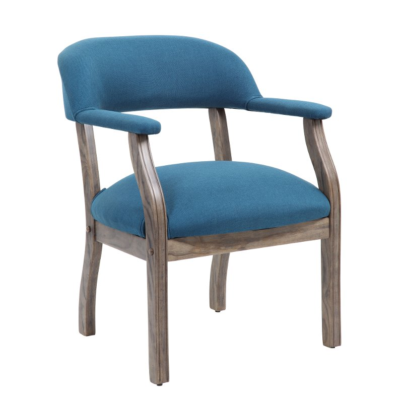 peacock blue office guest chair rc willey furniture store