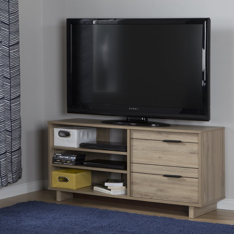 Modern Rustic Oak Tv Stand For Tvs Up To 55 Inch Fynn Rc Willey