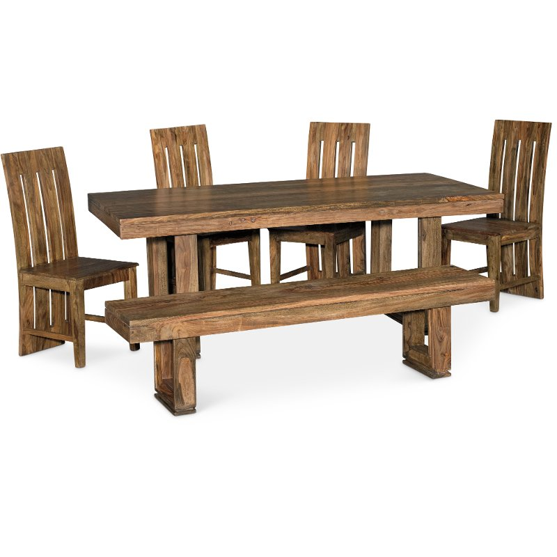 Cinnamon 6 Piece Dining Set With Bench   Urban | RC Willey Furniture Store