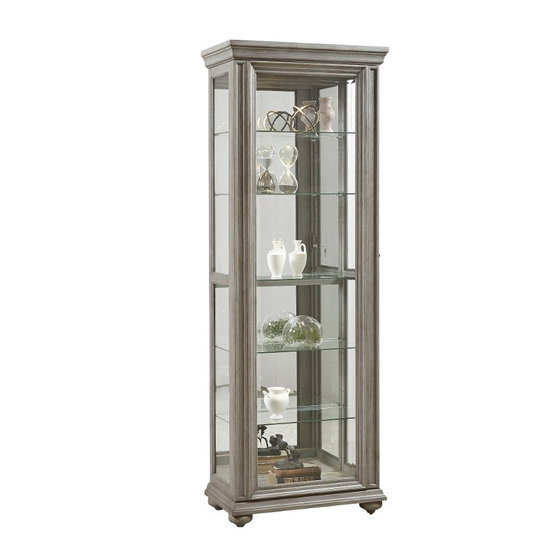 Weathered Gray Kitchen Cabinets: Weathered Gray Curio Cabinet