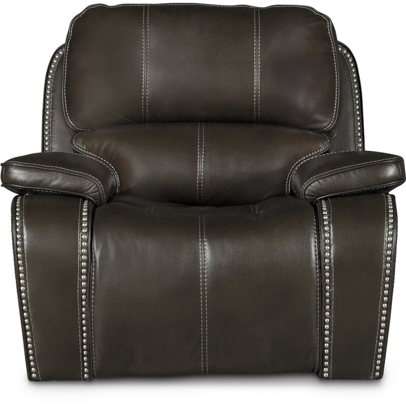 Midnight Brown Power Recliner   Jamestown