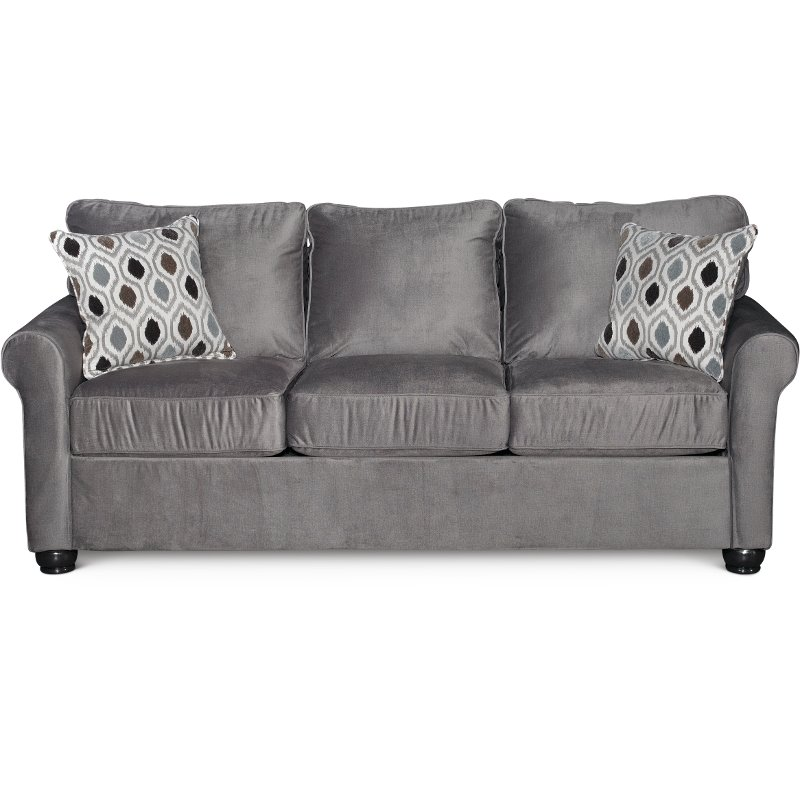 Smoke Gray Queen Sofa Bed Jojo Rc Willey Furniture Store