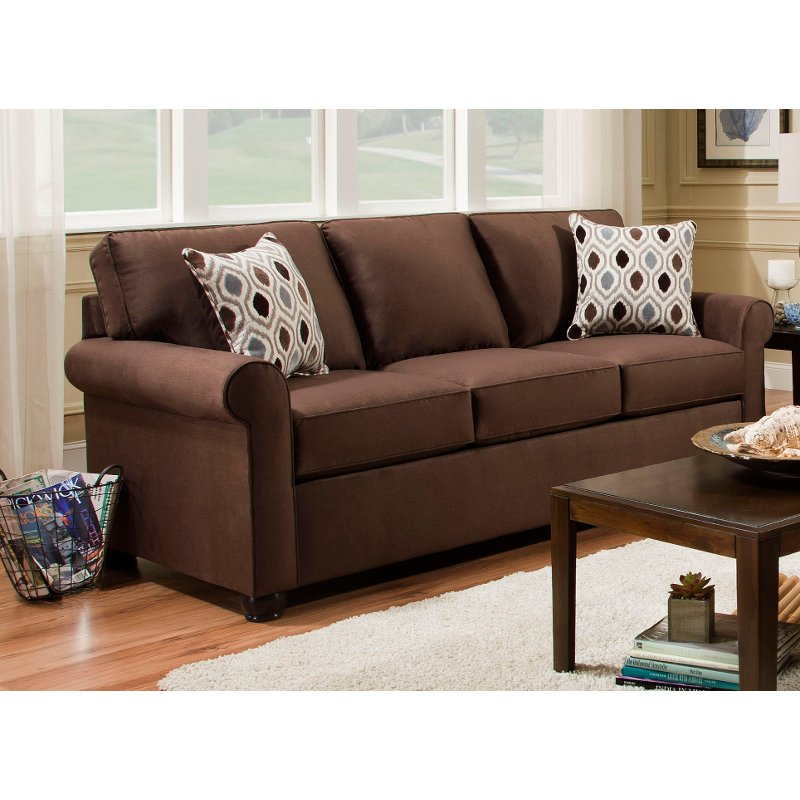 Chocolate Brown Queen Sofa Bed Jojo Rc Willey