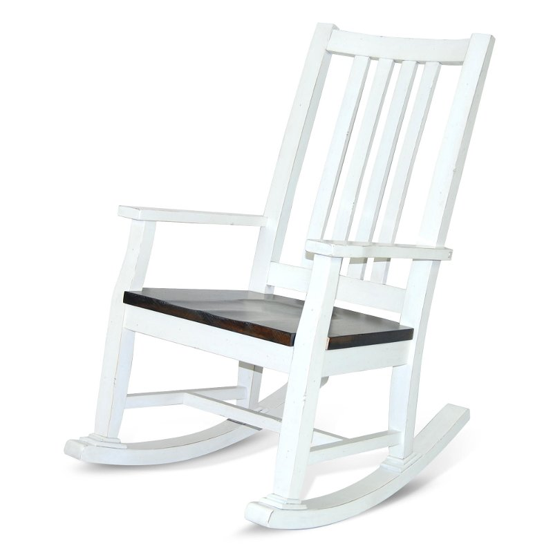 Bourbon French Country White Rocker