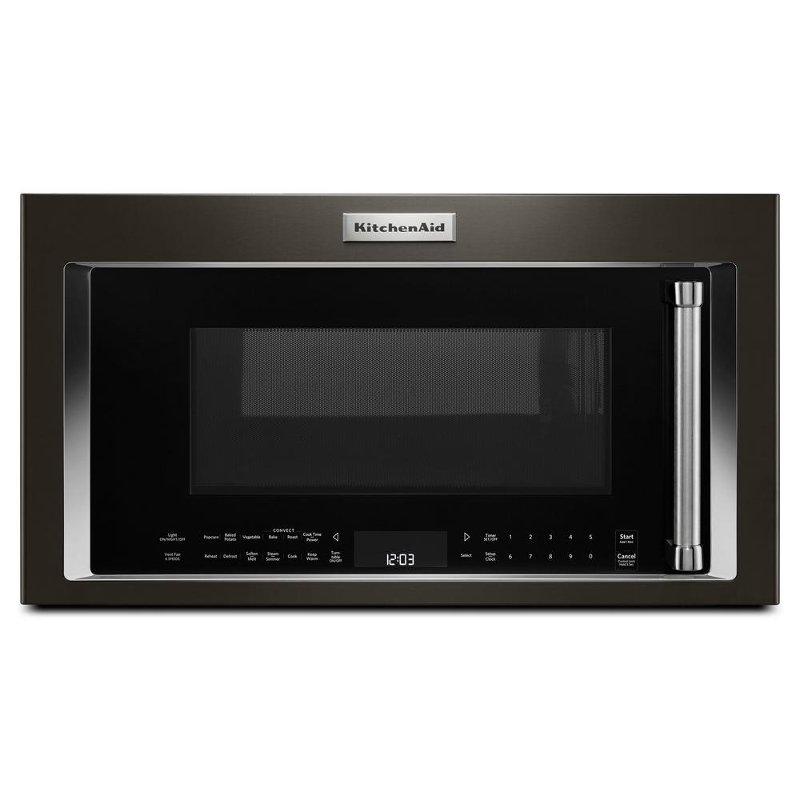 Beau KitchenAid Over The Range Convection Microwave   1.9 Cu. Ft. Black  Stainless Steel | RC Willey Furniture Store